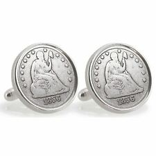 NEW Auburn University 1856 Sterling Silver Dime Coin Cuff Links 13239
