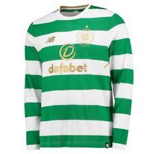 Camisetas de fútbol de clubes internacionales de manga larga en blanco