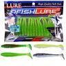 Swim Portable Fishing Worm Bait Soft Plastic Lure Single T Tail Capuchin Maggot