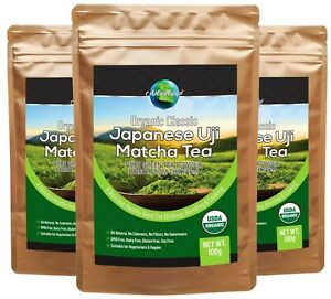 Organic Matcha Green Tea from Uji Kyoto Japan, Best Premium Grade Fine Powder