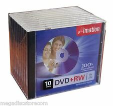 New 10 Pk Imation DVD+RW 8X Rewritable Blank Media With CD Jewel Box