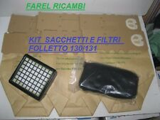 SACCHETTI FOLLETTO K130/131 CON FILTRO ODORI  E MICROFILTRO IGIENICO HEPA