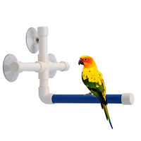 Bird Bath Perch Suction Cup Shower Perch Stand for Bird Parrot Macaw African Toy