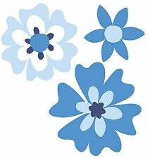 Posies Blue Posy White Flowers 25 Wallies Cool Flowers Decorate Walls Stickers