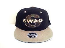 "SWAG WOODLAND 'S"" BLACK/KHAKI Snapback Cap"