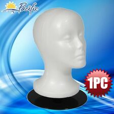 "Female Mannequin 11"" head with holder base display wig hat glasses"