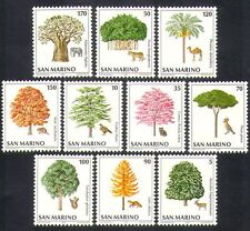 San MARINO 1979 Elefante/Tiger/Eagle/Baobab/alberi/Animali/NATURA 10 V Set n36633