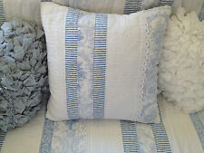 Juliet Provincial Blue Shabby Chic Quilted Cushion Cover