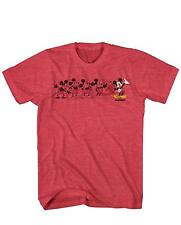Mickey Mouse Music Evolution Classic Retro Funny Adult Men's Graphic T-Shirt Tee