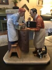 """1979 Limited In Edition Gorham Norman Rockwell """"Year End Count � Figurine"""