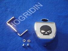 g Harley Davidson softail rocker fxcw fxcwc black skull coil cover willie