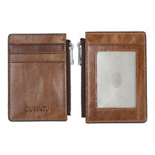 Purse RFID Blocking Genuine Leather Wallet ID Credit Card Holder Money Clip Coin