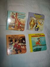 Lot of 4 tiny Disney Books - 1986 - Tugboat Mickey, The Brave Little Tailor