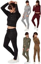 Unifarbene Damen-Kapuzenpullover & -Sweats im Trainingsanzüge-Stil aus Polyester
