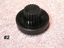 Radio Knobs  Several Styles  Brown  #4    Plastic  Silvertone & Others 12 Styles