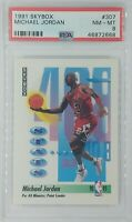 1990-91 Skybox Stats Michael Jordan #307, Chicago Bulls, HOF, Graded PSA 8