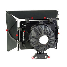 Camtree Video Matte Box Sunshade w Flags for 15mm Rail Rod Support Shoulder rig