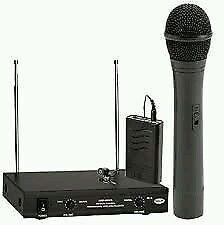 Ahuja AWM-490VHL Wireless handheld + lapel Microphone