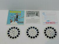 Popeye View-Master 3 Reel Packet Set B516 Sawyers