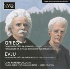 GRIEG: PIANO CONCERTO IN A MINOR; FRAGMENTS OF A PIANO CONCERTO IN B MINOR; EVJU