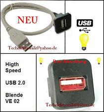 USB Einbaubuchse BELEUCHTUNG 50cm passend für VW Golf Passat Jetta Bora T4 T5 UP