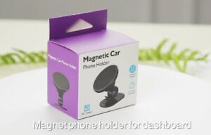 Universal Magnetic Cell Phone Holder Black with Charger Cord Holder