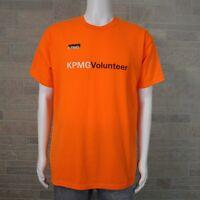 Men's LARGE KPMG Professional Services Company Volunteer Orange SS T-shirt