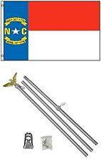 3x5 STATE OF CAROLINA DEL NORTE BANDERA ALUMINIO Polo Kit Set 0.9mx5'
