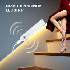 Motion Sensor Night Light LED Strip Lamp Battery Under Bed Lamp Closet Stairs