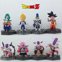 8x Dragonball Z Son Gokou Goku Freeza Super Saiyan Vegeta 7cm-8cm PVC Figure Set