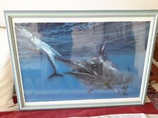 STANLEY MELTZOFF  Black Marlin & Wahoo LITHOGRAPHY ORIGINAL SIGNED  1988