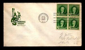 1940 Gilbert Stewart Famous Americans FDC / Farnam Cachet - N235
