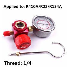1X Car Air Conditioning Refrigerant High Pressure Gauge Tool Red R410A/R22/R134A