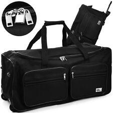 Travel Bag With Trolley Function - 100L - Black - Wheeled Luggage Bag Roller Bag