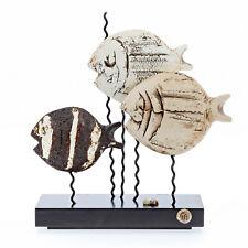 """Tropical Fish Figurines - Handmade Ceramic & Metal Fish Decor - Medium 9"""" (23cm)"""