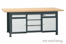 Jordan Metec 22643/84623 Werkbank mit Schubladenboxen und 2 Stahlblechschränken