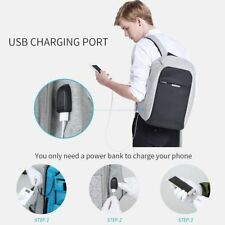 Oscaurt Anti-theft Travel Backpack Business Laptop Book School Bag with USB Char