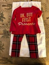 THE CHILDRENS PLACE GIRLS 2 PC HOLIDAY RED PAJAMAS SIZE 2T NEW WITH TAG