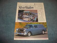 "1955 Chevy Sedan Delivery Vintage Street Machine Article ""Silver Shadow"""