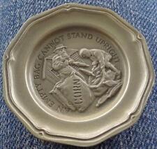 An Empty Bag Cannot... - Franklin MInt Miniature Collectible Plate - VGC BRONZE