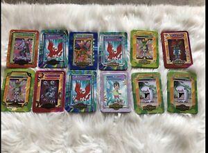 12 2000 Digimon Metal Taco Bell Card Lot