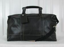 BARRINGTON Baird Black Pebble Leather Captains Duffle Bag