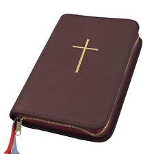 Großdruck Gotteslob Hülle Gotteslobhülle Leder braun mit Kreuz in gold Gebetbuch