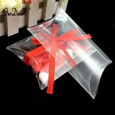 Clear PVC Pillow Box Gift Wrapper Candy Chocolate Packing Party Wedding Favors