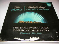 Hollywood Bowl Symphony Peer Gynt / Caucasian Sketches LP EX Capitol P8329 1955