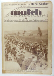 Vintage Sports / Cycling Collectable - 'Match'  French Publication