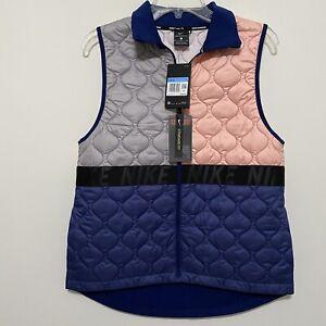 Nike Aerolayer Women's Running Vest BV3869-697 Void Atmosphere Grey Size M