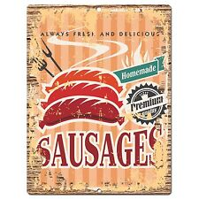 PP0815 Homemade SAUSAGES Parking Plate Chic Sign Bar Cafe Restaurant Decor Gift