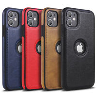 NEU iPhone Leder Schutzhülle Hülle Case Tasche Cover X XS XR 11 12 Pro Max Mini