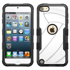 For Apple iPod Touch 5 / 6 Generation 3-Layer Case (Blk/Blk/TF) - Volleyball